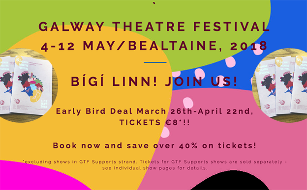 Galway Theatre Festival takes to the stage in May 2018