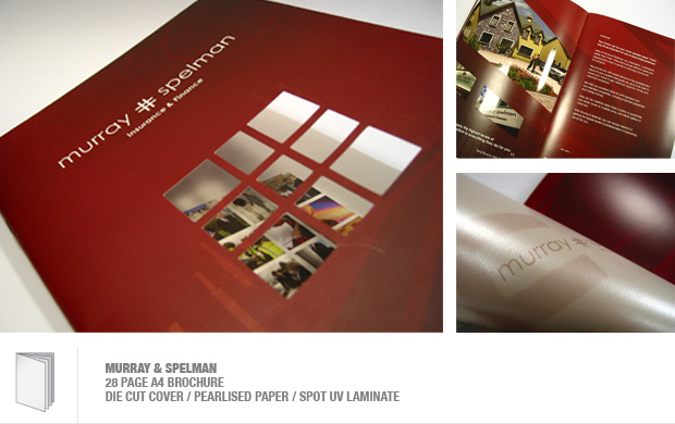 design and print of a corporate brochure