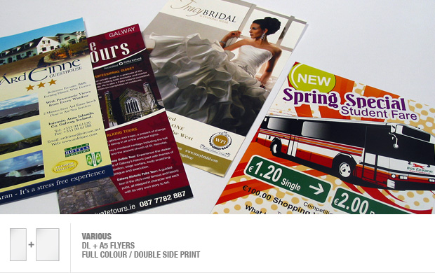 design and print of advertisement flyers