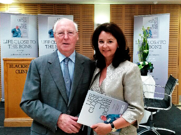 James Sheehan and Margo Quinn of Standard Printers at the launch of Life Close To The Bone