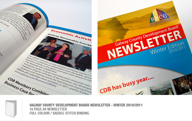 design and print of newsletter