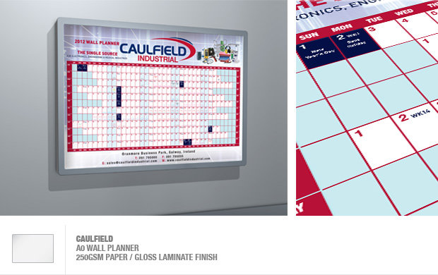 design and print of wall planners and light boxes